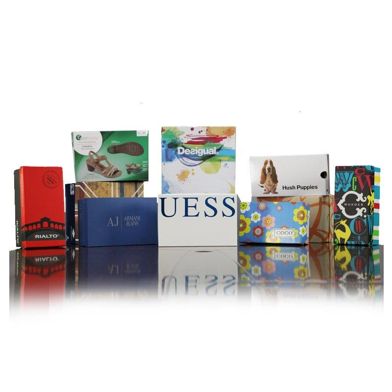 Color Printed Paper Shoe Packaging Box With Logo