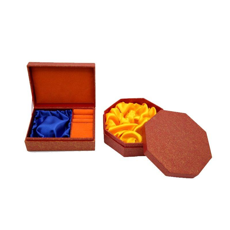 Jewelry Gift Paper Boxes With Satin Fabric