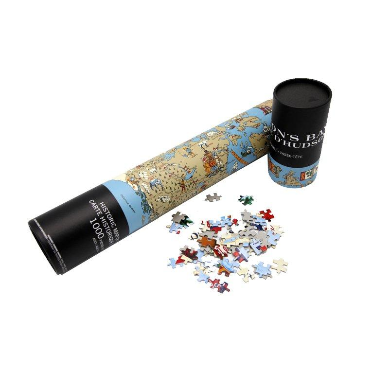Custom Paper Tube Box for Carton Puzzle