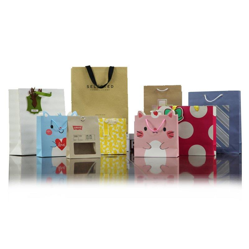 Printed Packaging Paper Bag For Advertisement