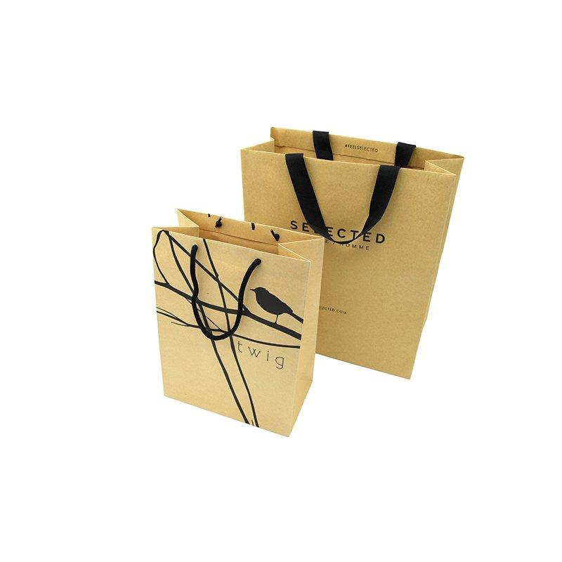 Printed Clothing Kraft Paper Bags with Handle