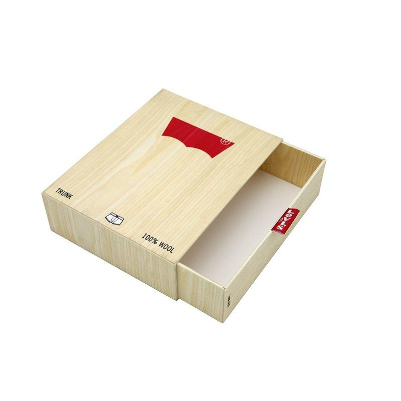 Apparel Paper Packaging Boxes with Wood Grain for Gift
