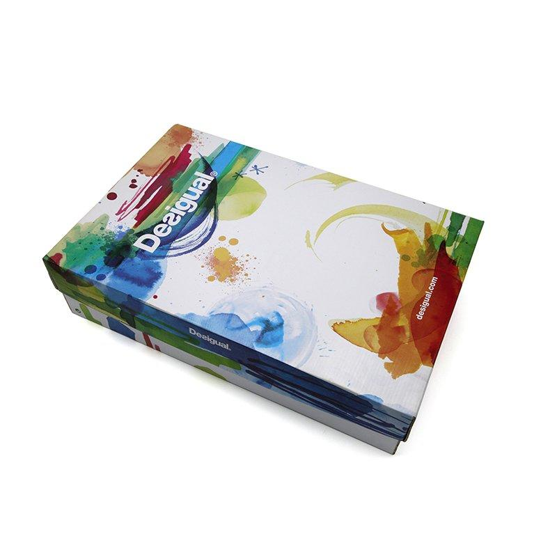 Colorful Rigid Custom Logo Printed Shoe Boxs Paper Packaging with Lid