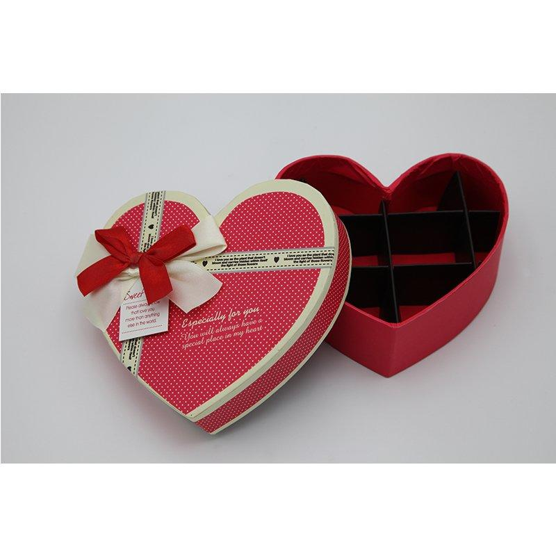 Heart Shape Gift Paper Boxes for Christmas