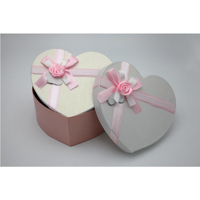 Pink Fancy Paper Paper Packaging Boxes With Bowknot