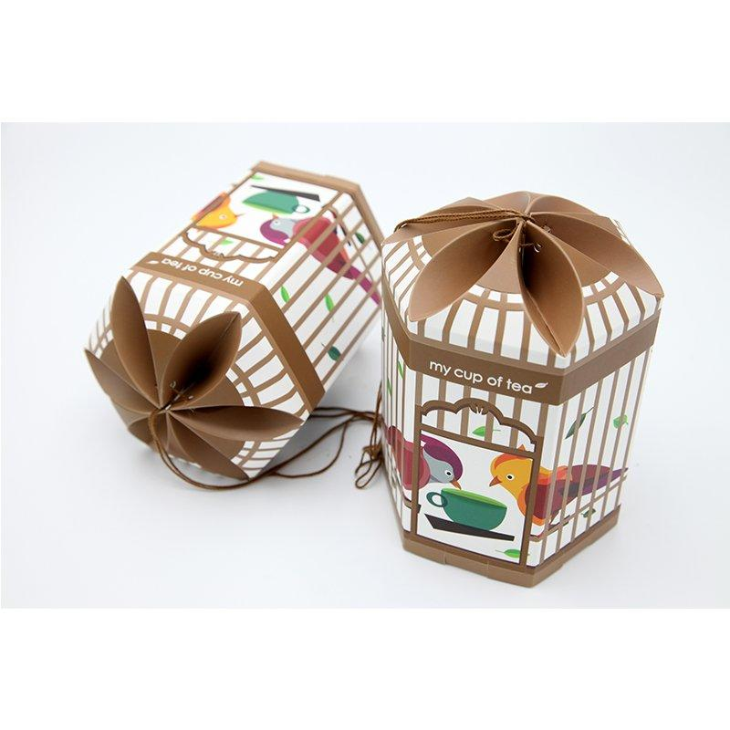 Custom Tea Paper Bags Packaging Box with Art