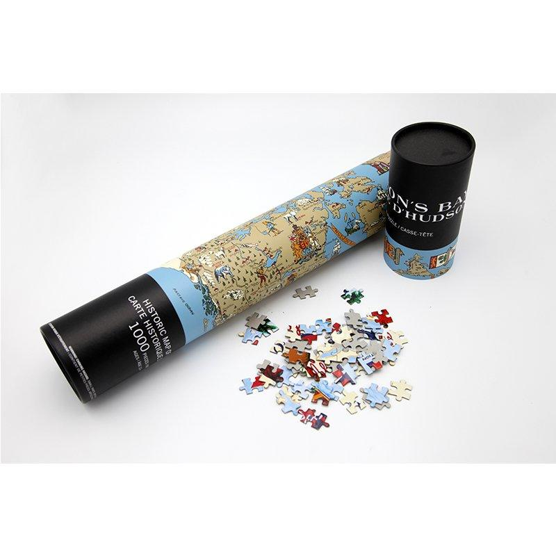 Stationery Cardboard Tube Box For Cartoon Puzzles