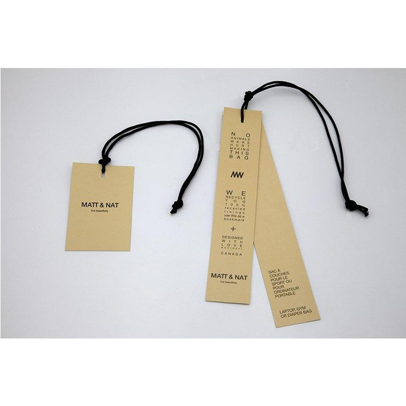 Custom Design Log with Paper Clothing Hang Tags with Wax Rope